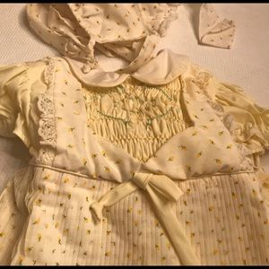 Vintage Polly Flinders Hand Smocked outfit